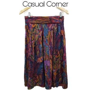 4/$25 🥂 Casual Corner Printed Skirt